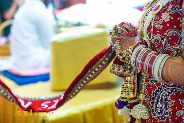 Harvin Kaur Deol and the chura on her wedding day - PHOTO JESMESH SINGH