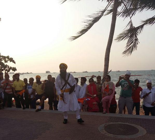 Malaysian Gatka Federation team performing the Sikh martial art at Pattaya