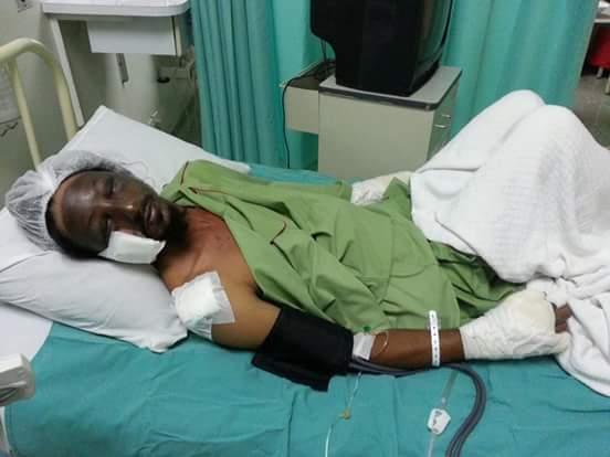 Granthi Ranjit Singh seriously injured in a gas leak explosion at Gurdwara Sahib Sikh Settlement Tanjung Tualang, Perak, Malaysia.