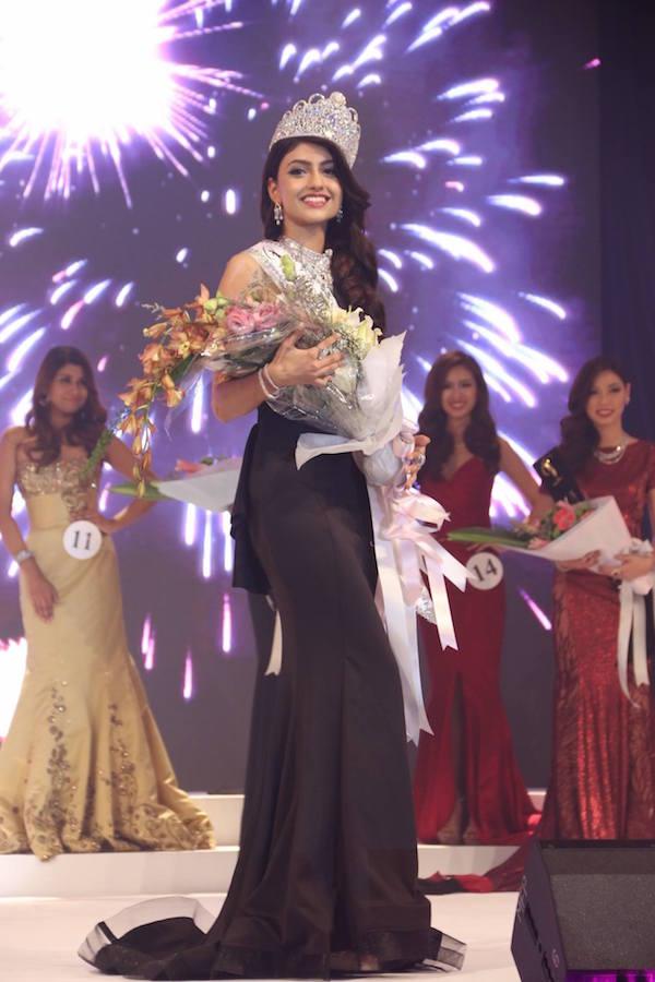 Kiran Kaur Jassal crowned as Miss Universe Malaysia 2016 in Kuala Lumpur on 30 Jan 2016.