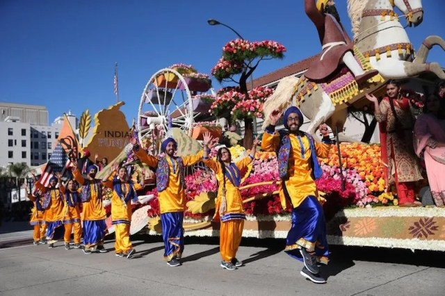 Sikh float in the 2016 Rose Parade in Pasadena, California - PHOTO/ LA TIMES