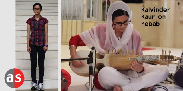 Kalvinder Kaur on the rehab at 1st Malaysia-Singapore Raag Darbar in Singapore in February 2016. Left: In more casual mood.