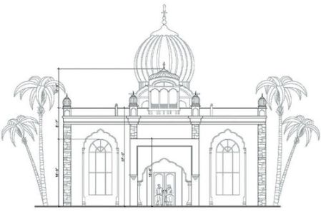 Design for the gurdwara in Porterville in California, US.