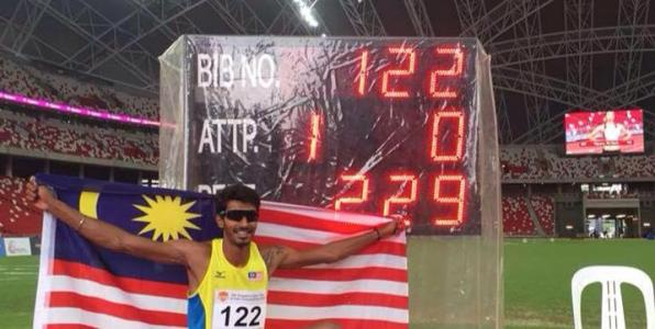 Malaysian high jumper Nauraj Singh Randhawa shattered the national record to qualify for the Rio De Janeiro Olympics after winning gold at the Singapore Open on 28 April 2016.