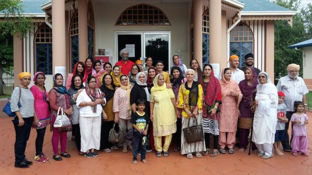 GROUP PHOTO: The participants at Gurdwara Sahib Kota Kinabalu in Sabah. Maji Sarjit Kaur is the centre of attention, be it physical appearance or mental attitude - PHOTO / Daljeet Randhawa