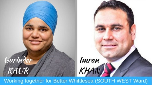 Melbourne-based Gurinder Kaur and Imran Khan are both contesting for the same seat in an Australian local council election - PHOTO / SUPPLIED