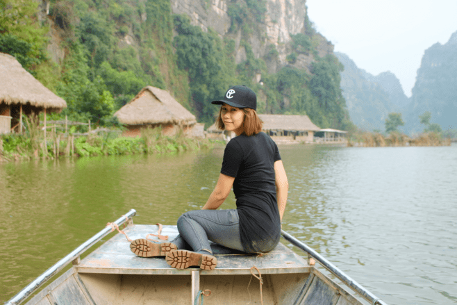Top experiences traveling Vietnam - boat tour in Ninh Binh