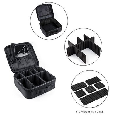 Make up organizer with handle The ladies in your company will loves it! It comes with adjustable inner space compartment that allows them to customise the layout to suit their preference Able to print company logo on it If interested, contact us for more information