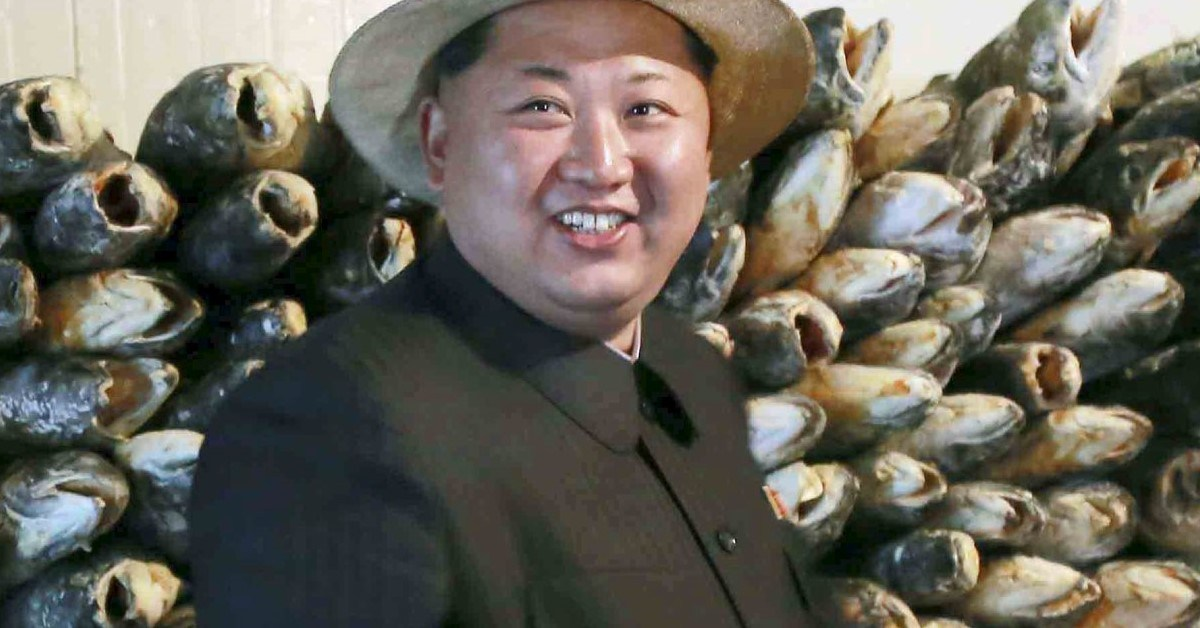 North Korean leader Kim Jong-un gives field guidance at the 810 army unit's salmon farms in this undated image. Photo: KCNA via Reuters