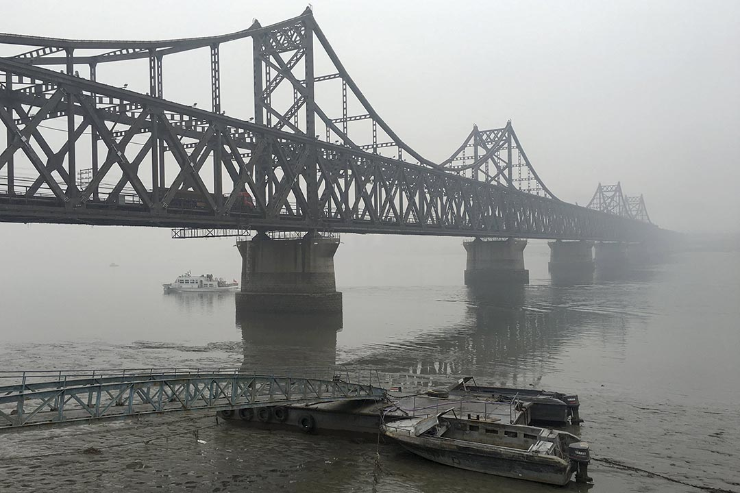 Burnt bridges? This bridge connecting North Korea to the Chinese city of Dandong used to carry shipments of coal. Not now. Photo: Reuters
