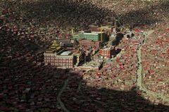 A view shows the settlements of Larung Gar Buddhist Academy in Sertar County of Garze Tibetan Autonomous Prefecture