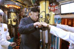 Time to keep a closer eye on Kim Jong-un's submarines. Photo: KCNA via Reuters