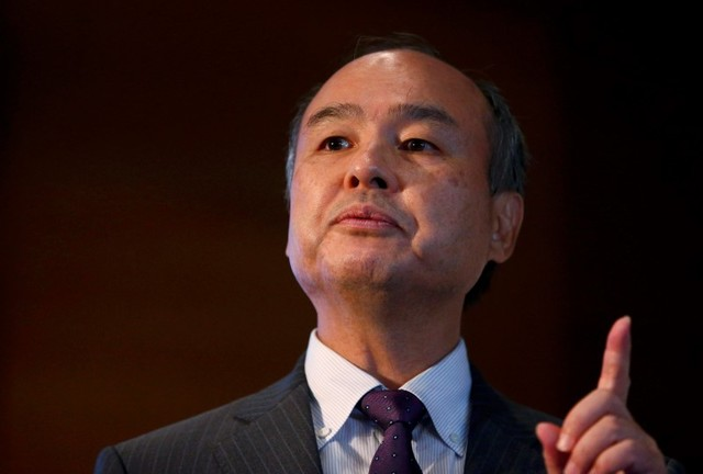 CEO of the SoftBank Group Masayoshi Son speaks at a news conference in London. Photo: Reuters/Neil Hall