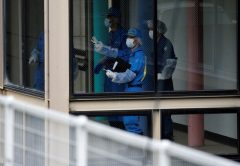 olice officers investigate at a facility for the disabled, where a deadly attack by a knife-wielding man took place, in Sagamihara, Kanagawa prefecture, Japan