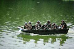 Dhaka police boat patrol
