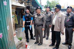 Ransibrahmanakul inspects a Hua Hin blast site