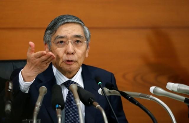 BOJ Governor Haruhiko Kuroda attends a news conference at the BOJ headquarters in September. Photo: REUTERS / Toru Hanai