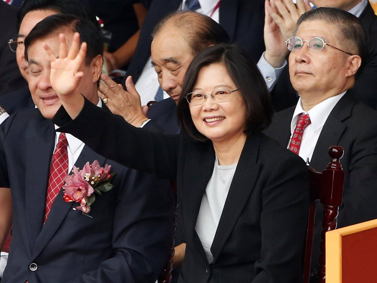 President Tsai Ing-wen waves during National Day celebrations in Taipei, Taiwan, on October 10, 2016. Photo: Reuters/ Tyrone Siu