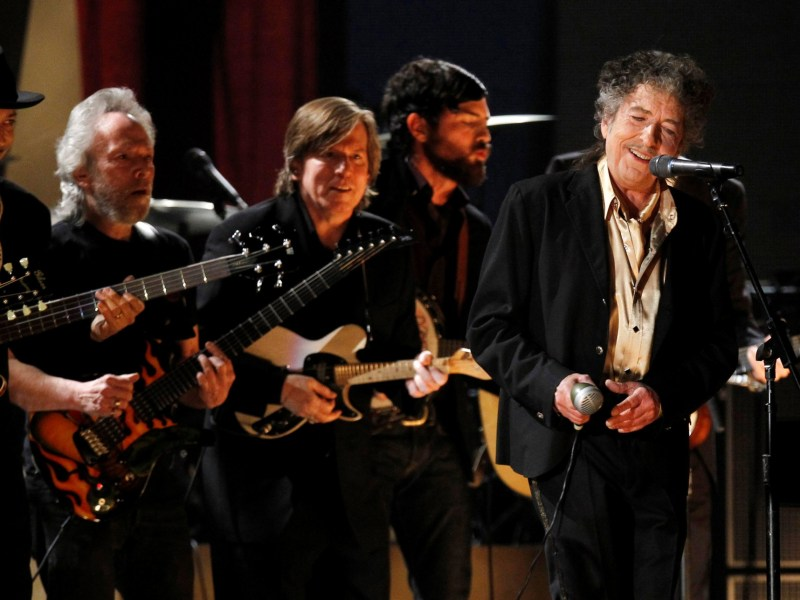 Bob Dylan, seen here performing Maggie's Farm at the 53rd annual Grammy Awards in Los Angeles, California February 13, 2011, was awarded the 2016 Nobel Prize for Literature on October 13. REUTERS/Lucy Nicholson