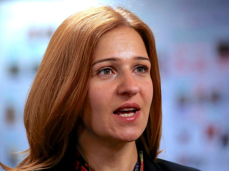 "Anna Neistat, Senior Director for Research with Amnesty International, talks to journalists about a report she co-authored titled 'Island of Despair - Australia's ""Processing"" of Refugees on Nauru' in Sydney, Australia, October 17, 2016 that concludes many of the 410 asylum seekers held on the tiny Pacific Island are being driven to attempt suicide to escape the prison-like conditions they face in indefinite detention on behalf of Australia. Photo: Reuters/David Gray"