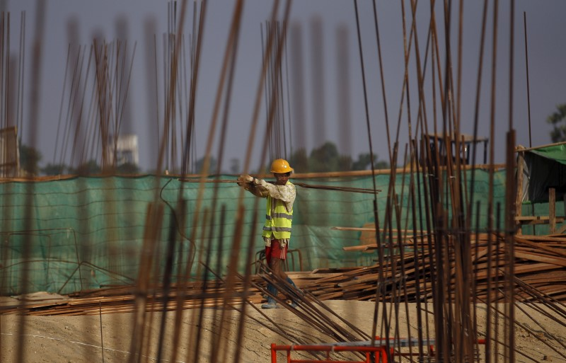 A man works at the Thilawa Special Economic Zone project in Myanmar. Photo: Reuters/Soe Zeya Tun