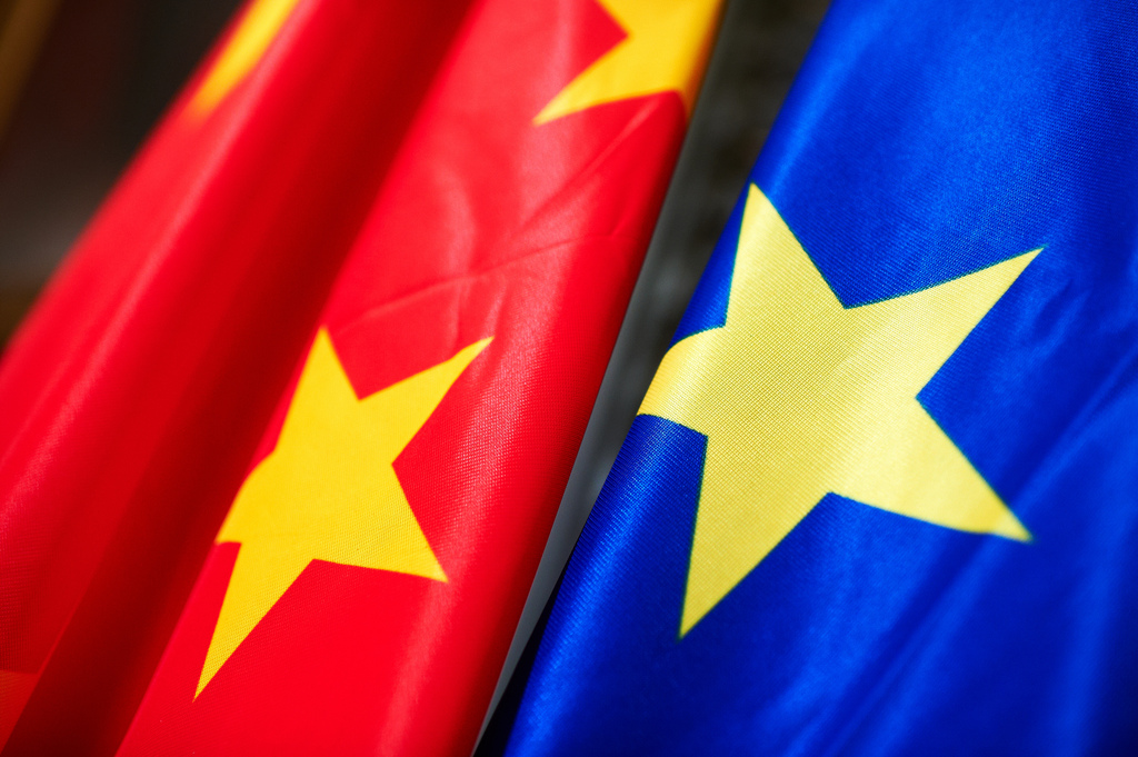 Chinese and EU flags. Photo: Flickr