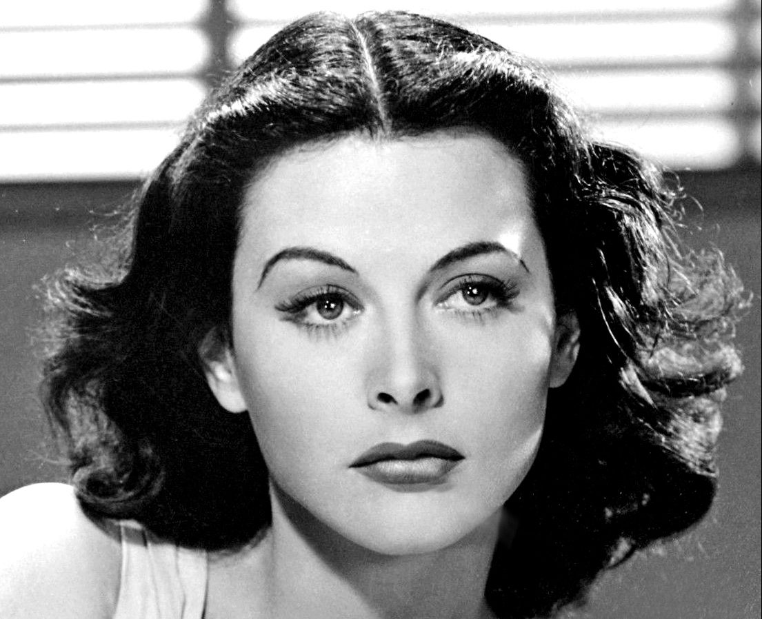 Hedy Lamarr in publicity photo for Comrade X, 1940. Via Wikimedia Commons