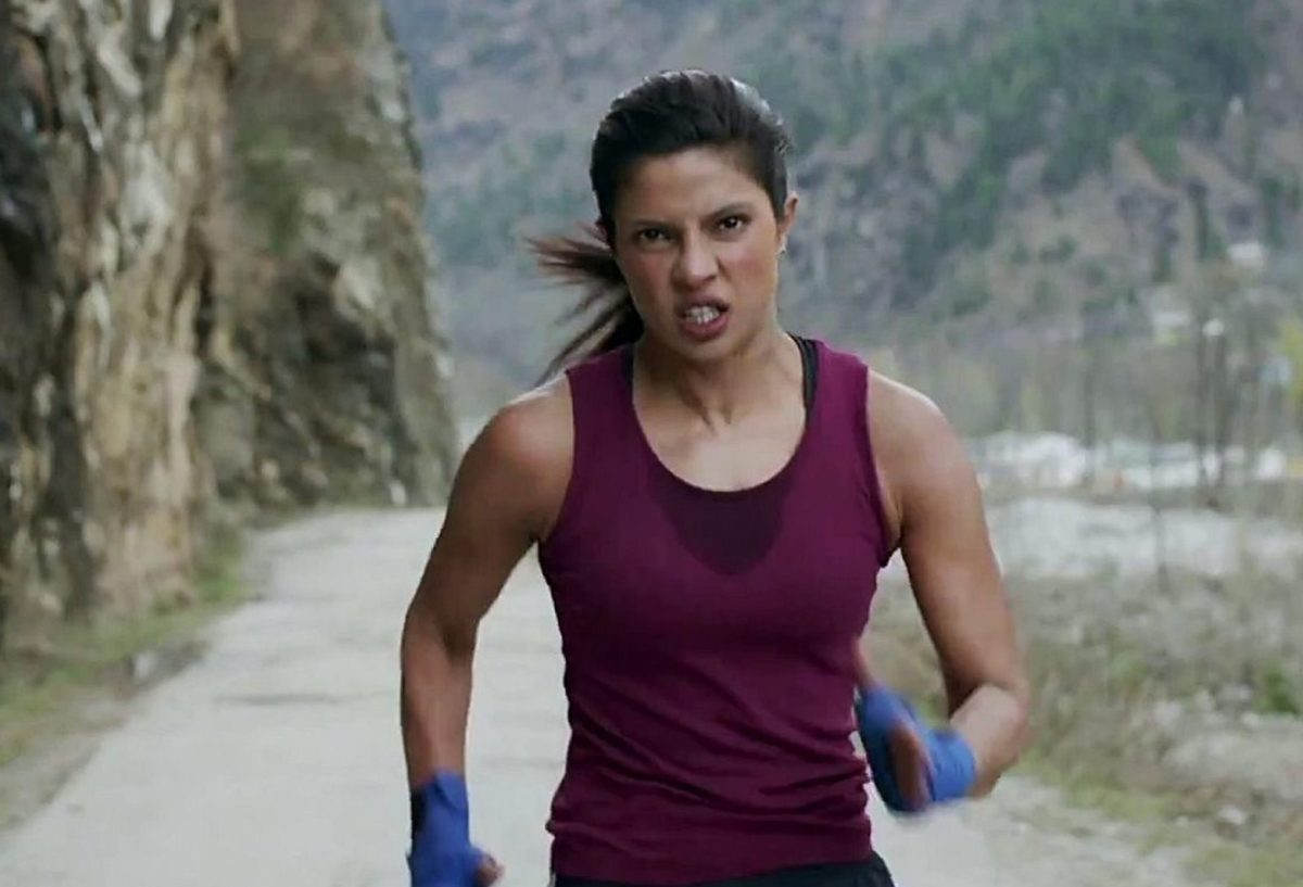 Priyanka Chopra played the title role in the boxing biopic Mary Kom.