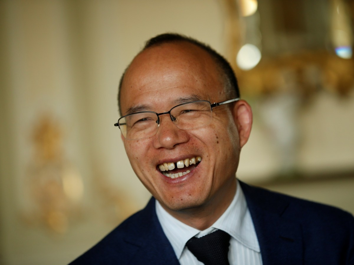 """Guo Guangchang's Fosun International announced a 28% profit rise and told the Hong Kong stock exchange:  """"We have been working conscientiously and earnestly every day as if we were skating on thin ice and standing on the brink of an abyss."""" Photo: Reuters"""