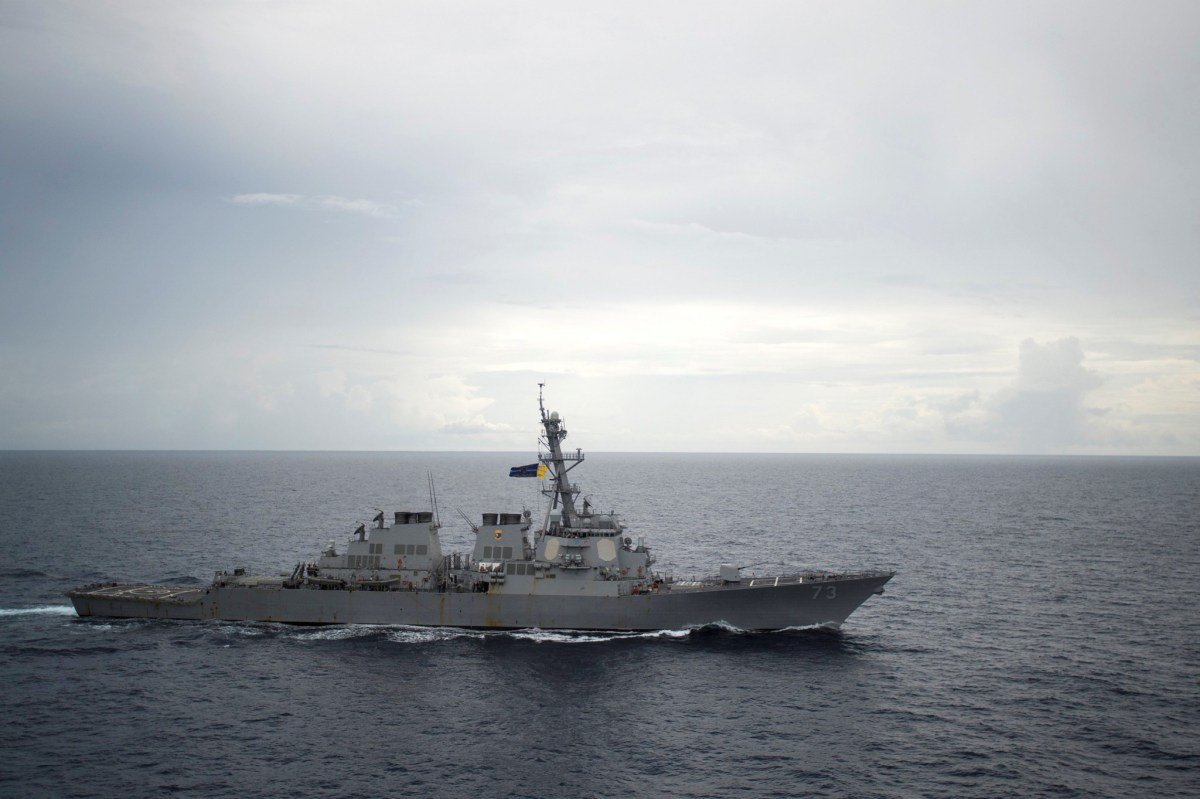 Guided-missile destroyer USS Decatur operates in the South China Sea in October. Photo: US Navy Handout via Reuters
