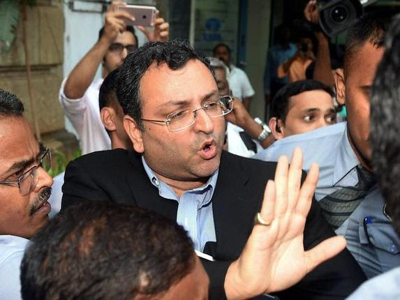 Cyrus Mistry, ousted chairman of Tata Sons, leaves the company's headquarters Bombay House in Mumbai on Wednesday. Photo: PTI