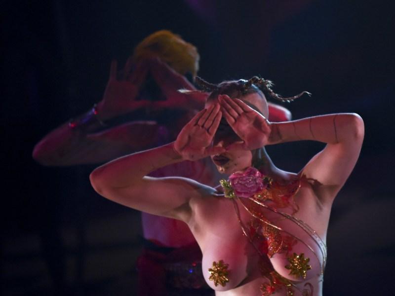 Scenes from Chen Tianzhou's show 'Ishvara'. Photo: AFP/Wang Zhou