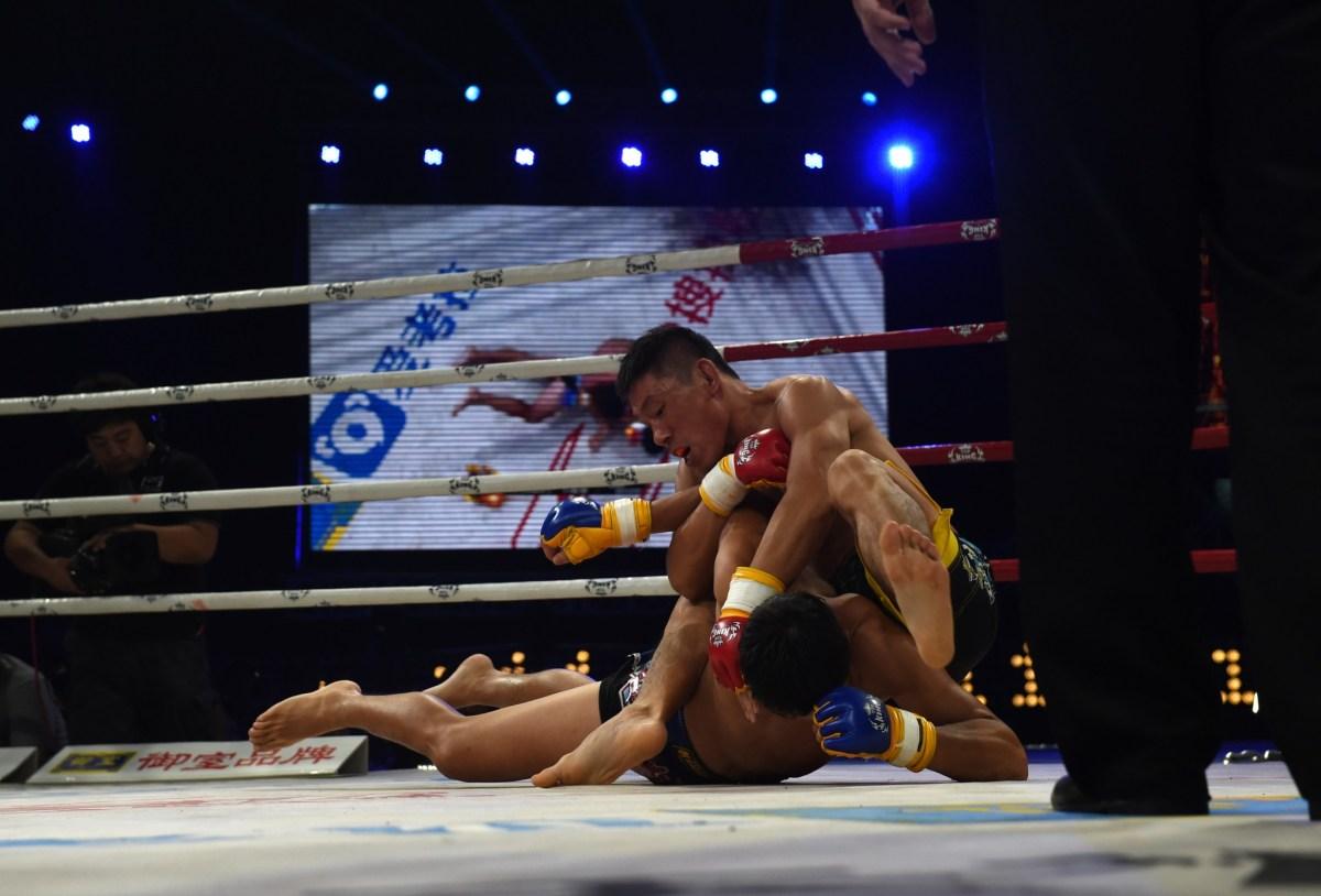 The next big China's Mixed Martial Arts fighter? Photo: AFP