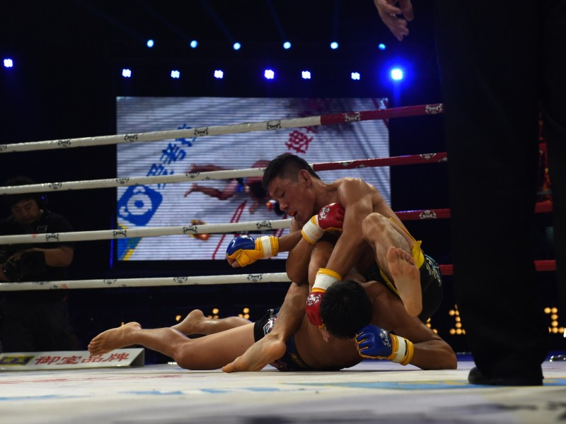The next big China's Mixed Martial Arts fighter? Photo: AFP