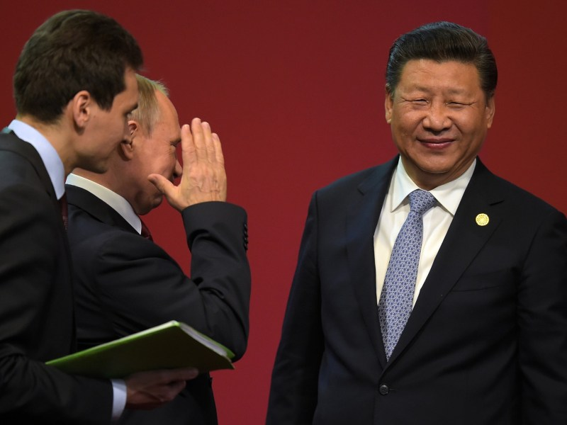 Russian President Vladimir Putin meets China's leader Xi Jinping. Photo: AFP