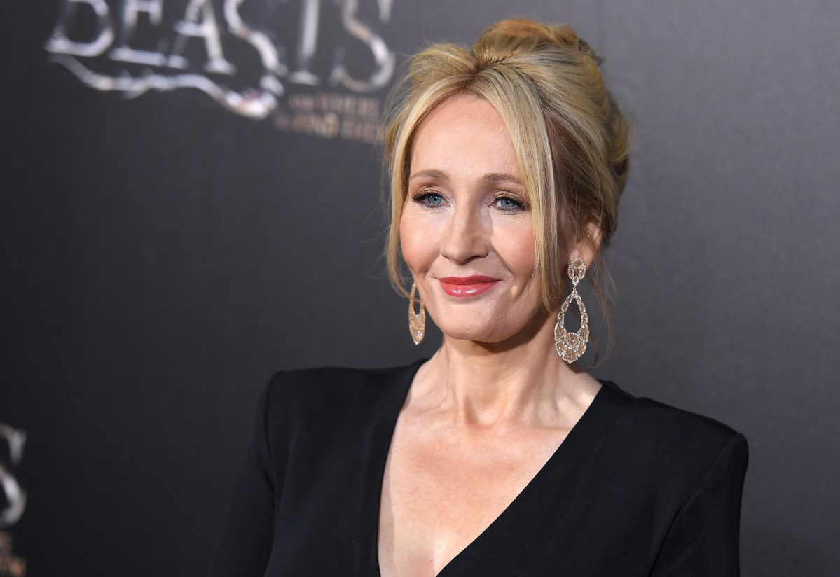 Author J.K. Rowling attends the premiere of Fantastic Beasts and Where to Find Them – a movie adapted from one of her books – in New York.  Photo: AFP
