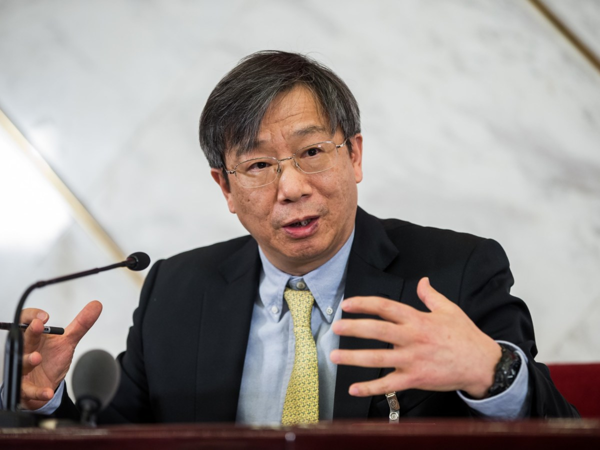 Yi Gang, the governor of the People's Bank of China. Photo: AFP/Imaginechina
