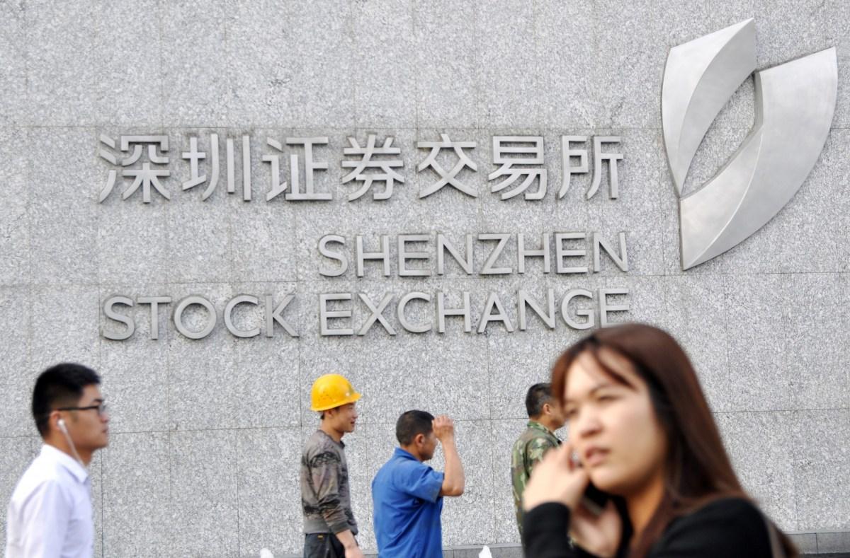 Shenzhen Stock Exchange. Photo: AFP