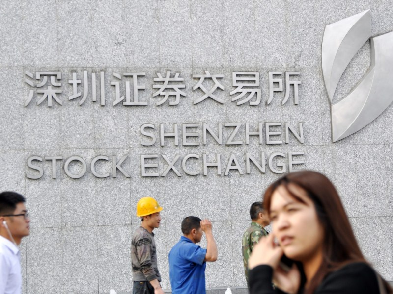 Shenzhen Stock Exchange. Photo: AFP