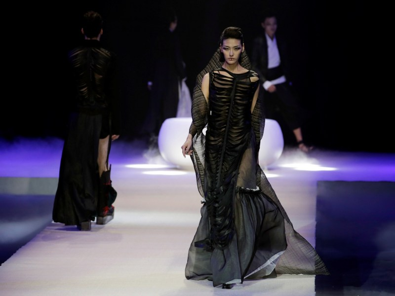 Creations by Chinese designers Qi Gang and Chen Kun at China Fashion Week in Beijing. Photo: Reuters/Jason Lee