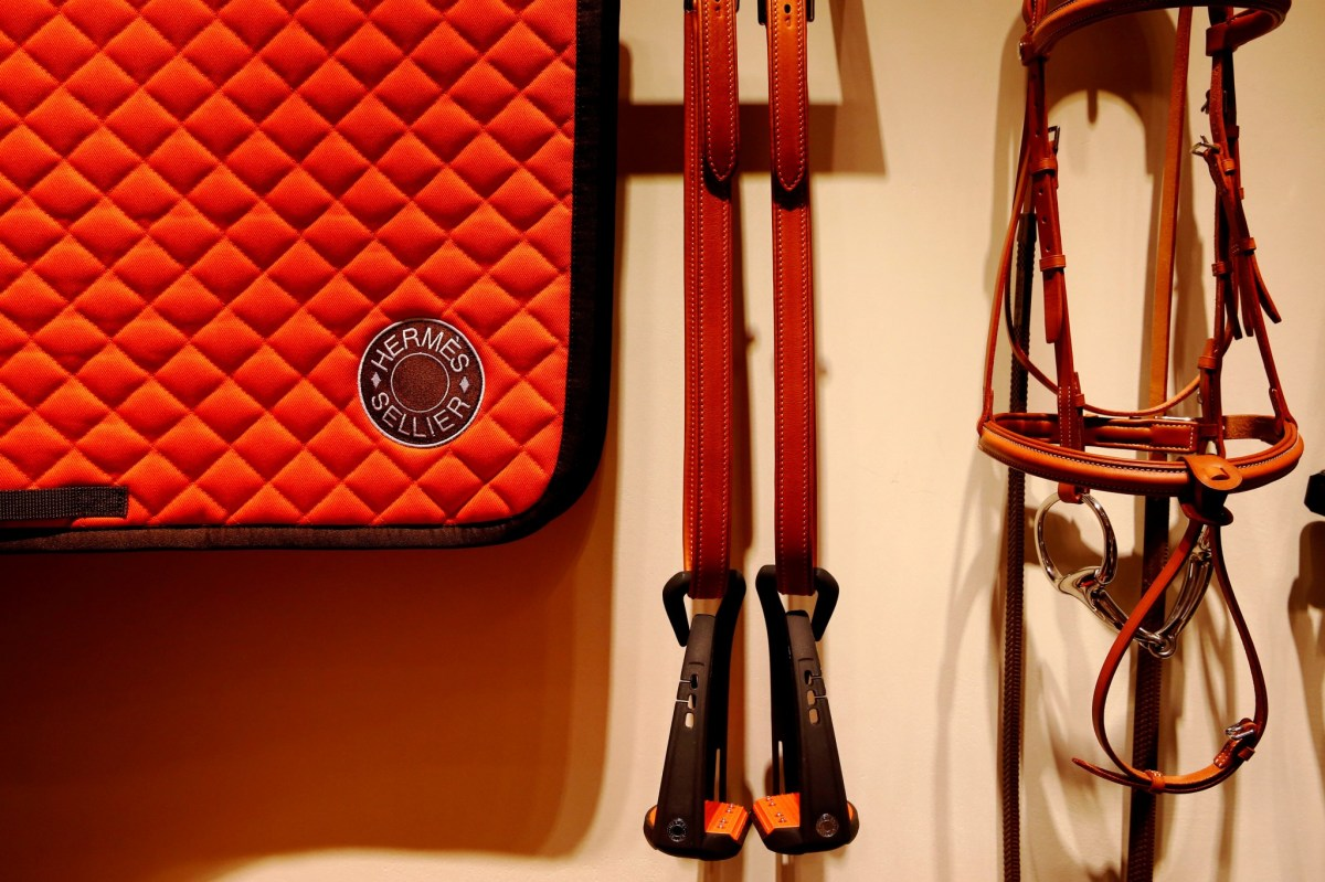 Luxury goods are displayed in the new Hermes boutique in Rome, Italy October 7, 2016. Tony Gentile, Reuters