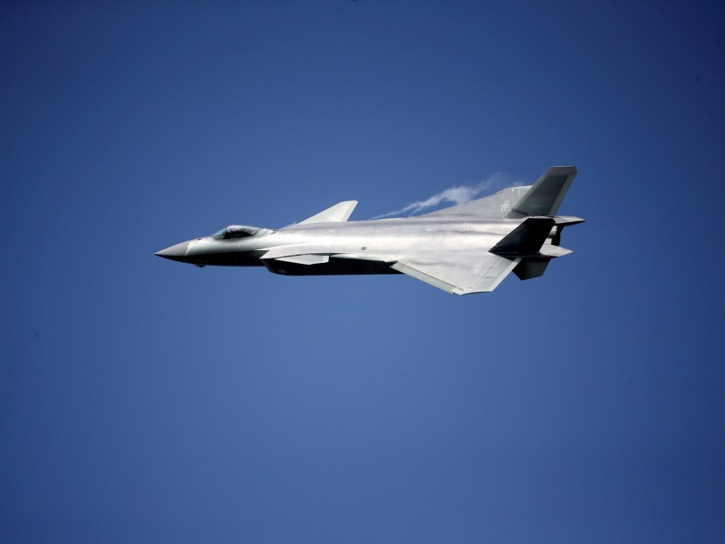 China unveils its J-20 stealth fighter at an air show in Zhuhai, Guangdong Province, China, on November 1, 2016. Photo: China Daily via Reuters