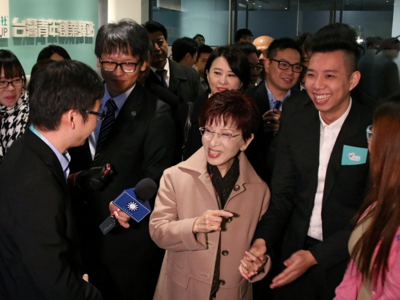 Kuomintang (KMT), chairwoman Hung Hsiu-chu during a visit to Beijing in 2016. Photo: Reuters/Stringer