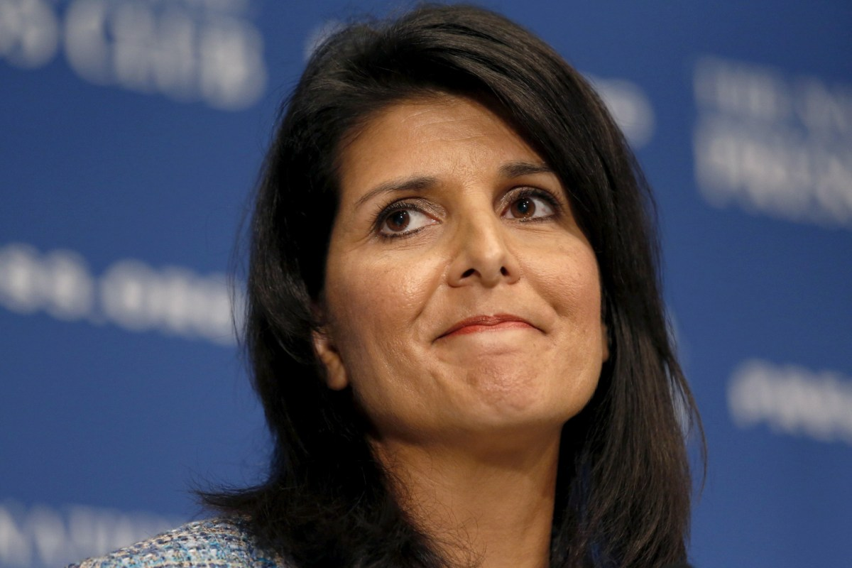 United State Ambassador to the UN Nikki Haley. Photo: Reuters/Kevin Lamarque