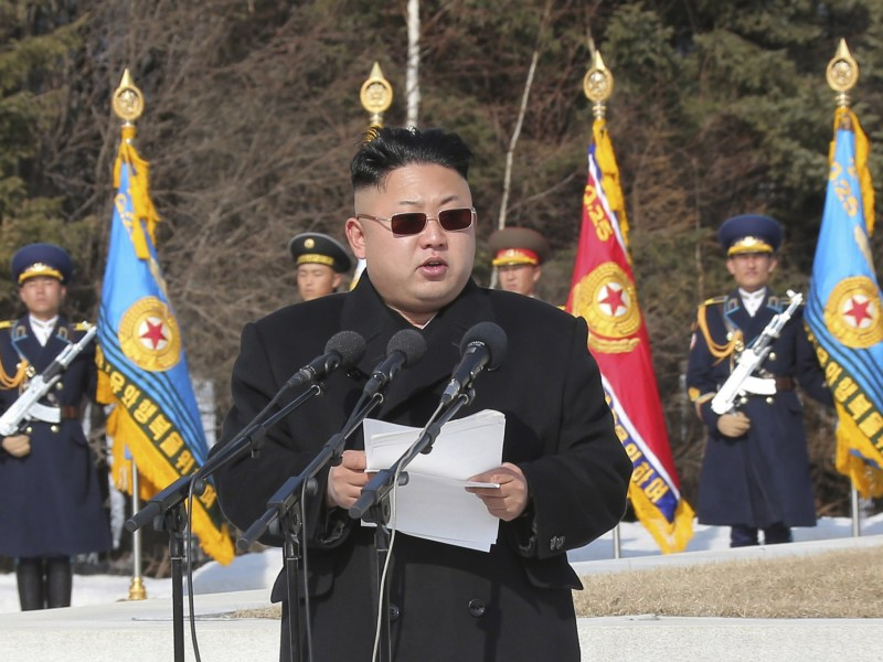 Kim Jong-un back in the black book?  Photo: KCNA via Reuters