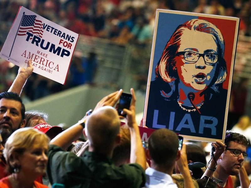 Donald Trump supporters in Jacksonville, Florida. Photo: REUTERS/Carlo Allegri