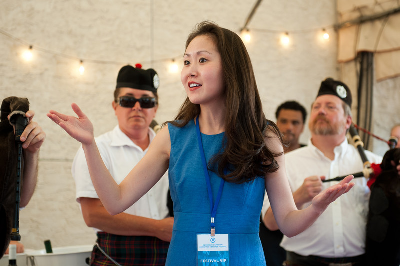 Lindy Li giving a speech at a Democratic National Committee event. Photo: courtesy of the Democratic National Committee