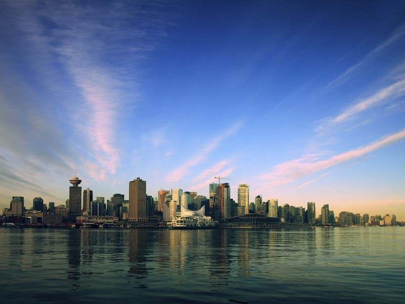 City of Vancouver, Canada, at sunrise. Courtesy: City of Vancouver.