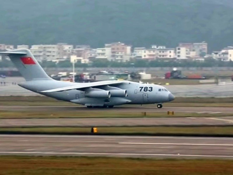 China's Xian Y-20 transport plane is similar to the US C-17. Photo: Wikimedia Commons