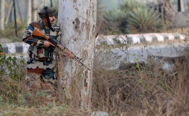 The Indian army has cordoned off the area of the attack in Jammu and Kashmir's Nagrota. Photo/AFP